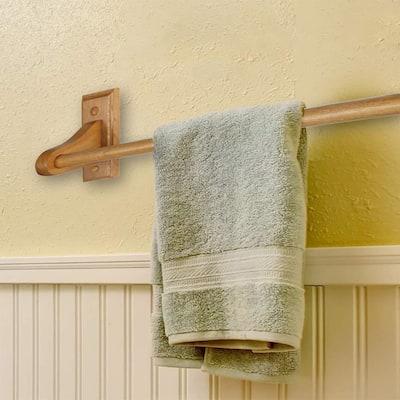 Dalton 24 in. Towel Bar in Honey Oak