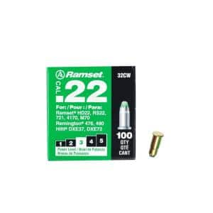 0.22 Caliber Green Single Shot Powder Loads (100 per Pack)