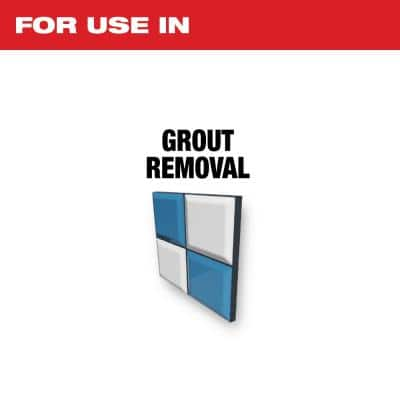 2-1/2 in. Universal Fit Diamond Grit Grout Removal Multi-Tool Oscillating Blade (1-Piece)