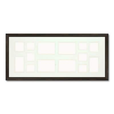14-Opening Holds Multiple Photos Matted Brown Photo Collage Frame (Set of 2)