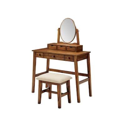 Natalie Walnut Vanity Set