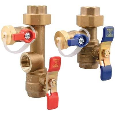 2-Piece Lead-Free Brass Tankless Water Heater Valve Set