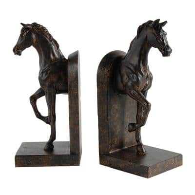 5 in. x 10.5 in. Decorative Horse Bookends (2-Pack)