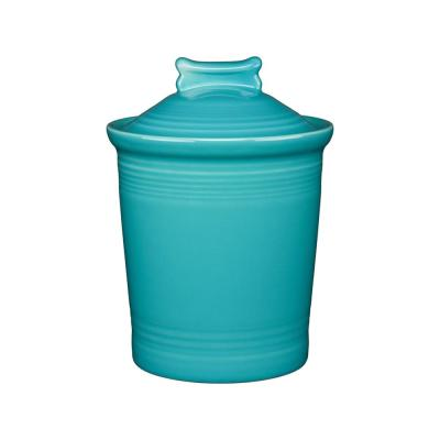 Turquoise Dog Bone Treat Jar with Lid