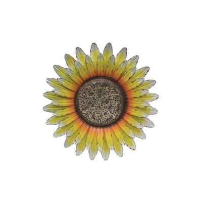 Galvanized Sunflower Wall Decor