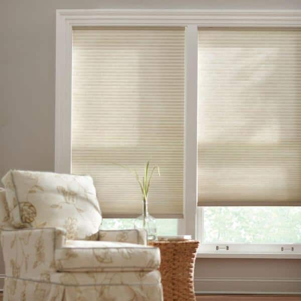 Home Decorators Collection Parchment Cordless Light Filtering Cellular Shade 27 In W X 48 In L 10793478652884 The Home Depot