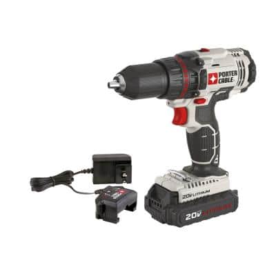 20-Volt MAX Lithium-Ion Cordless 1/2 in. Drill/Driver with 1.3 Ah Battery and Charger