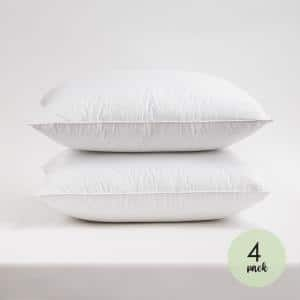 Resort Life 230-Thread Count Cotton Quilted King Pillow (4-Pack)