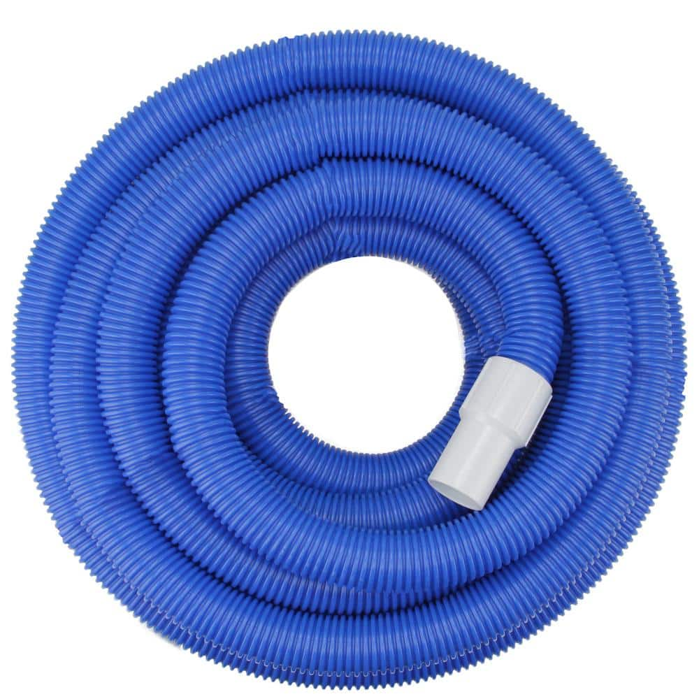 Pool Central 25 Ft X 1 5 In Blue Blow Molded Pe In Ground Swimming Pool Vacuum Hose With Swivel Cuff 32037060 The Home Depot