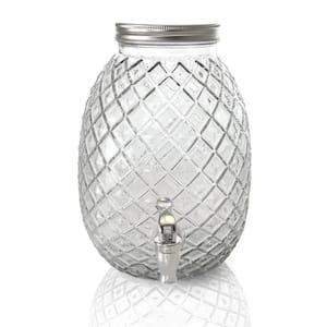 1.2 Gal. Clear Glass Drink Dispenser Beverage Serveware in Pineapple Shape