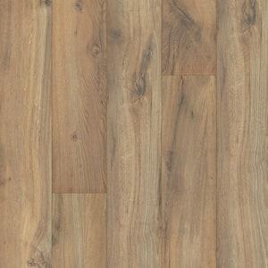 Outlast+ 6.14 in. W Linton Auburn Oak Waterproof Laminate Wood Flooring (16.12 sq. ft./case)