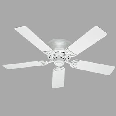 Low Profile III 52 in. Indoor White Ceiling Fan