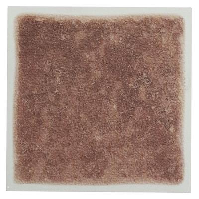 Vinyl 4 in. x 4 in. Self-Sticking Wall/Decorative Wall Tile in Terra (27 Tiles Per Box)