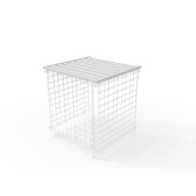 36 in. x 39 in. x 1.5 in. White Vinyl Slatted Liberty Lattice Rooftop Accessory