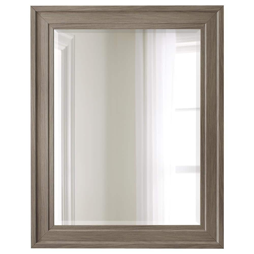 Home Decorators Collection Medium Rectangle Gray Wood Beveled Glass Contemporary Mirror 38 In H X 30 In W M317gw 9957 The Home Depot
