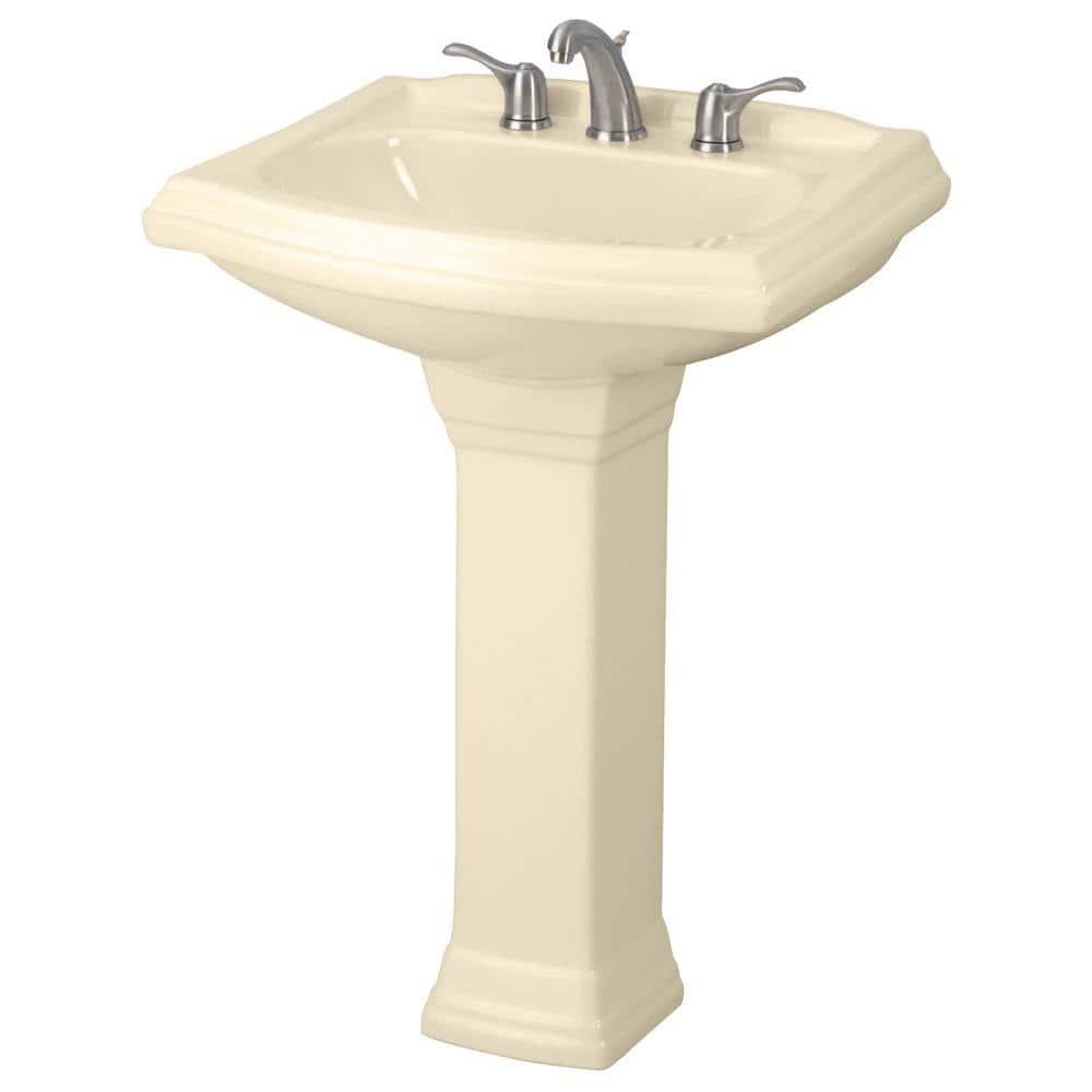Gerber Allerton Pedestal Combo Bathroom Sink In Bone G002257925 The Home Depot