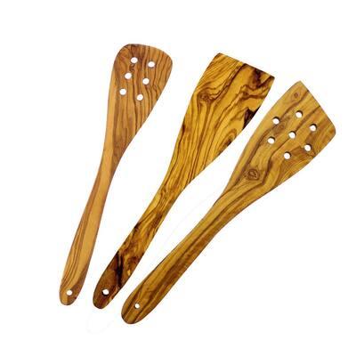 3-Piece Olive Wood Spatula Set