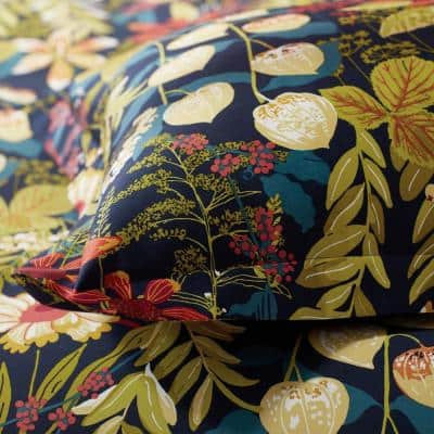 Legends Hotel Fall Floral Multicolored Sateen Sham