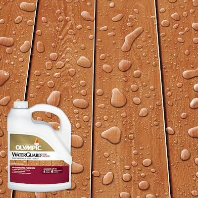 WaterGuard 1 gal. Woodland Cedar Semi-Transparent Exterior Wood Stain and Sealer