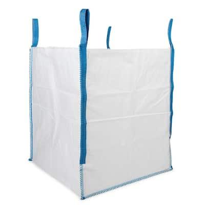 200 Gal. Heavy-Duty Builder's Bulk Bag White Outdoor Polypropylene Construction Trash Bag