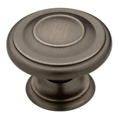 Harmon 1-3/8 in. (35 mm) Heirloom Silver Round Cabinet Knob