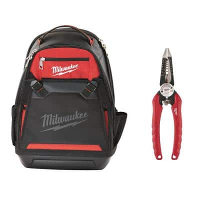 Jobsite Backpack with 6-in-1 Wire Pliers
