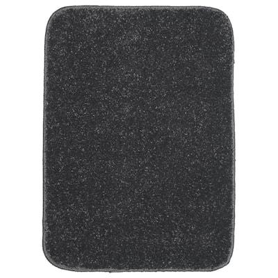 Gramercy Cinder Gray 17 in. x 24 in. Solid Polypropylene Bath Mat