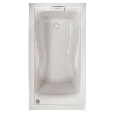 Evolution 60 in. x 32 in. Acrylic Rectangular Drop-in Air Bath Bathtub in White