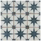 Harmonia Kings Star Blue 13 in. x 13 in. Ceramic Floor and Wall Tile (12.19 sq. ft./Case)