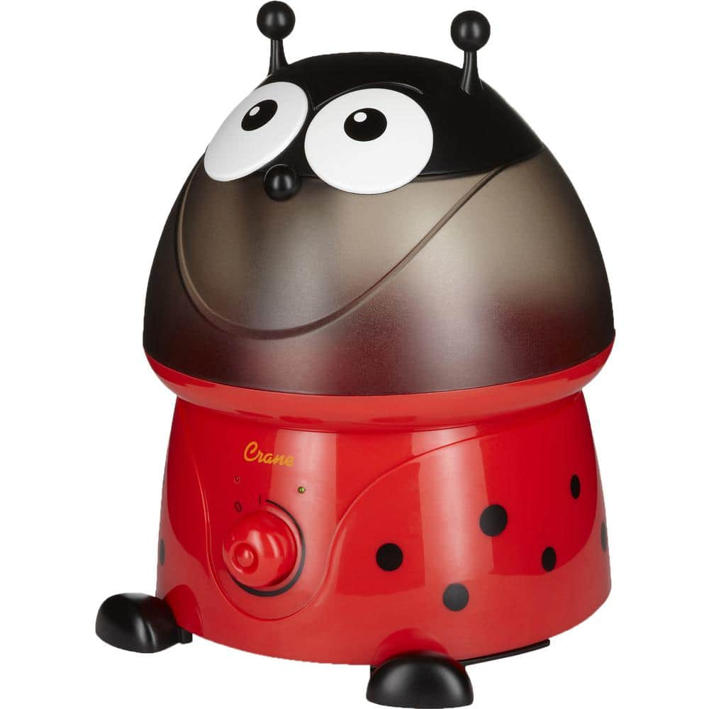 1 Gal. Adorable Ultrasonic Cool Mist Humidifier for Medium to Large Rooms up to 500 sq. ft. - Lady Bug
