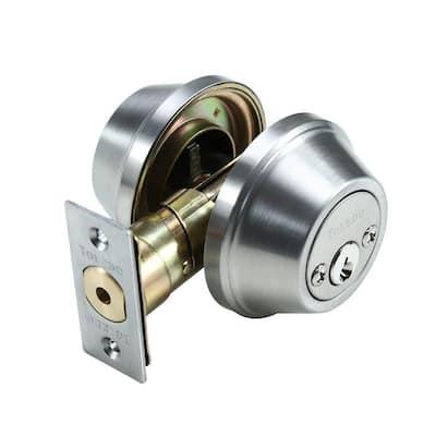 Double Cylinder Satin Stainless-Steel Deadbolt