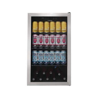 Single Zone 19.31 in. 122 Can Free-Standing Beverage Center