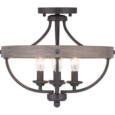Gulliver Collection 4-Light Graphite Semi- Flush Mount