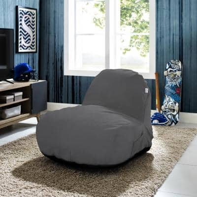 Cosmic Foam Grey Bean Bag Nylon Lounge Chair