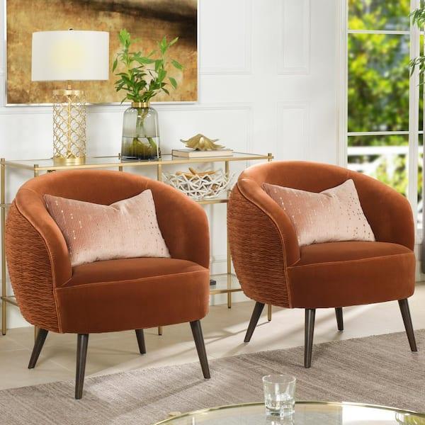 Jennifer Taylor London Mid Century, Modern Orange Accent Chair