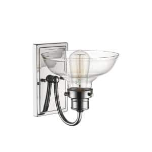 8 in. 1-Light Chrome Sconce