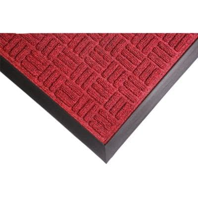 Crossbar Red 24 in. x 36 in. Commercial Entrance Mat
