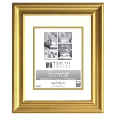 Lauren 1-Opening 16 in. x 20 in. Gold Matted Picture Frame