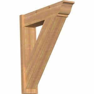 8 in. x 36 in. x 32 in. Western Red Cedar Traditional Smooth Outlooker