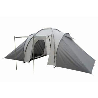 4-Person 2-Room Tent in Grey