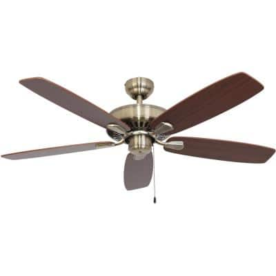 Charleston 52 in. Aged Brass Energy Star Ceiling Fan