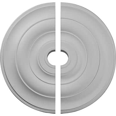 26-1/2 in. x 3-5/8 in. x 1-1/2 in. Jefferson Urethane Ceiling Medallion, 2-Piece (Fits Canopies up to 5 in.)
