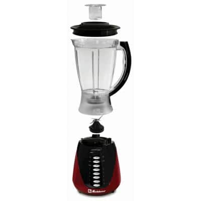Kitchen Magic Collection 50 oz. 10-Speed and Pulse Red Plastic Jar Blender