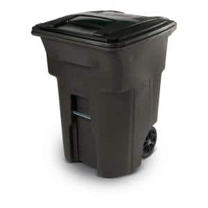 Otto Edge 95 Gal Grey Heavy Duty Rollout Trash Can Msd95egray The Home Depot
