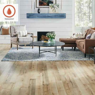 Outlast+ 5.23 in. W Toasted Almond Maple Waterproof Laminate Wood Flooring (13.74 sq. ft./case)