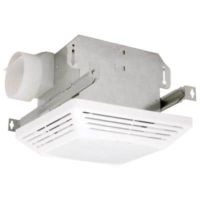 Advantage 70 CFM Ceiling Bathroom Exhaust Fan with Light