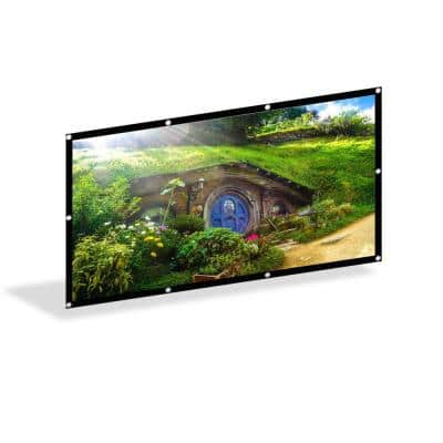 SunNest Foldable Projector Screen 16:9 HD 100 in., 120 in., 140 in. Anti-Crease Portable Indoor Outdoor