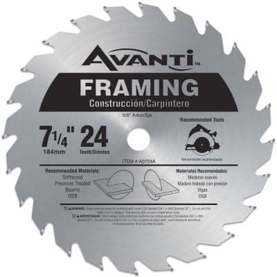 7-1/4 in. x 24-Teeth Framing Saw Blade