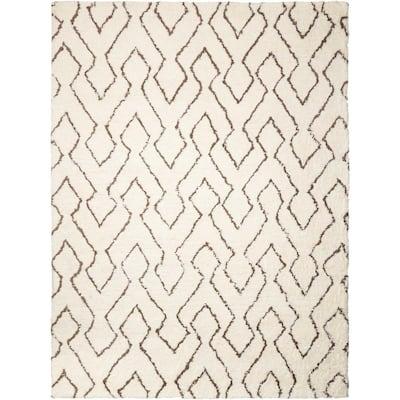 Nourison Crochet Ivory 5 Ft X 7 Ft Geometric Classic Area Rug 122865 The Home Depot