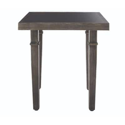 Chesterfield Park Metal Grey Outdoor End Table